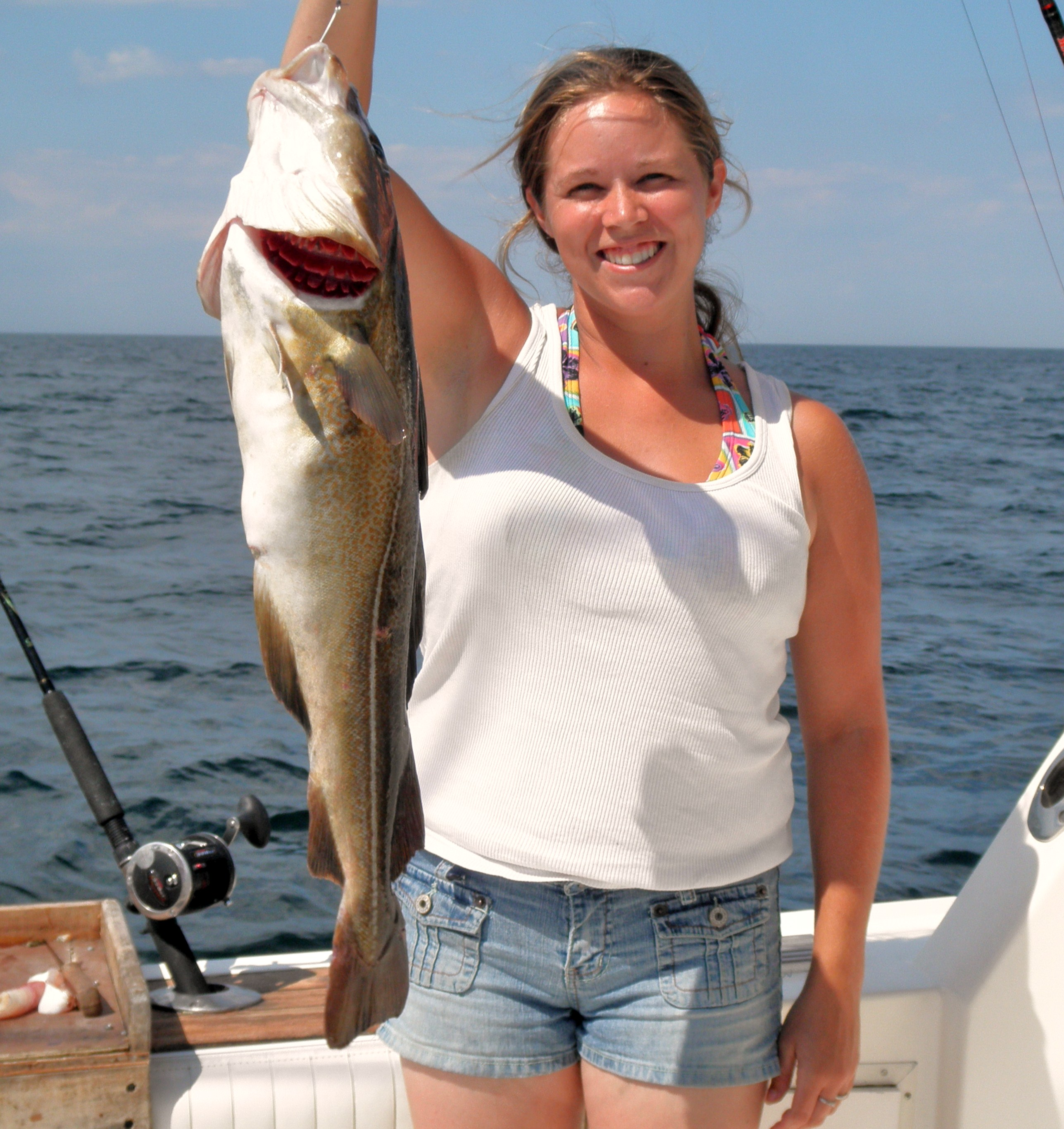 Fri 7 15 11 big blues sea bass and cod charter for Fishing charters nj