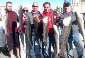NJ Striped Bass fishing.