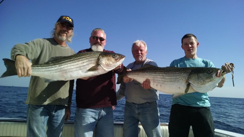 Point Pleasant NJ Srtiped Bass fishing