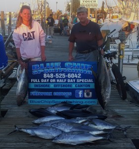 Blue Chip Charter Boat Tuna.
