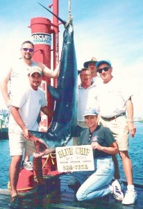 Mako fishing on the BLUE CHIP PT PLEASANT NJ