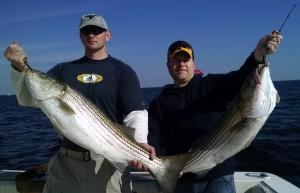 deep sea fishing striped bass